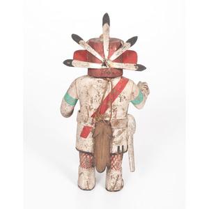 Hopi Rugan B Katsina AND Painted Gourd Rattle