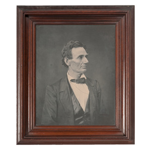Abraham Lincoln, Large Photograph Printed by Ayres from the Hesler Negative