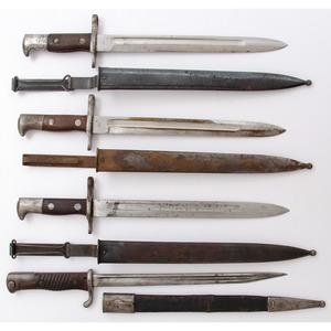 Four Model 1900 Bayonets