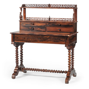 French Louis Philippe Desk in Rosewood