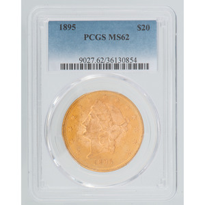 United States Liberty Head Double Eagle 1895 PCGS MS62