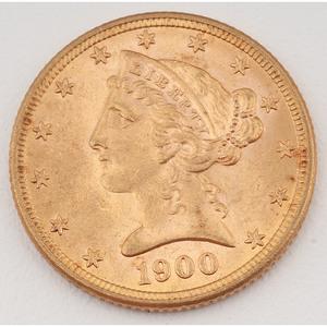 United States Liberty Head Half Eagle 1900