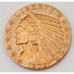 United States Indian Head Half Eagle 1909-D