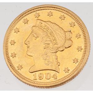United States Liberty Head Quarter Eagle 1904
