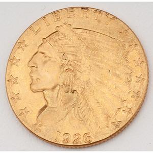 United States Indian Head Quarter Eagle 1926
