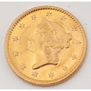 United States Gold Dollar 1853
