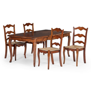 French Provincial-style Dining Table and Chairs