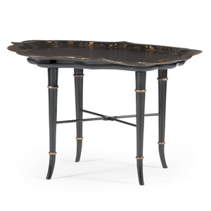 Painted Tray Tea Table by Richard Norton Inc.