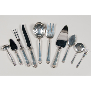 Watson Co. Sterling Serving Utensils, George II Rex