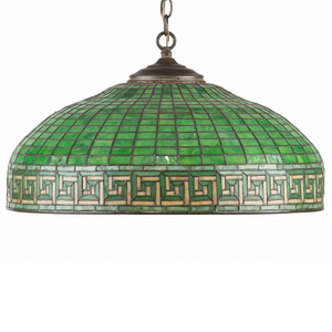 Tiffany Studios Hanging Shade in Greek Key Pattern