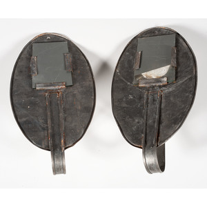 Tin Mirrored Candle Sconces