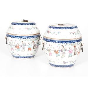 Chinese Porcelain Lidded Jars