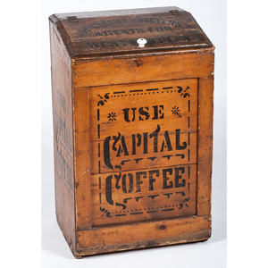 Capital Coffee Painted Wood Bin