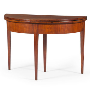 French Demilune Game Table
