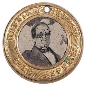 Lincoln & Hamlin 1860 Campaign Ferrotype