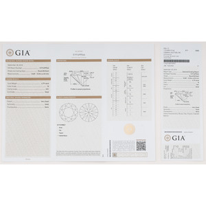 GIA Certified 4.79 Carat Round Brilliant Cut Diamond
