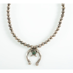 A Silver and Turquoise Naja