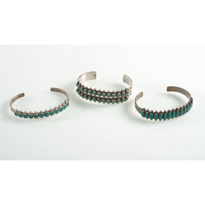 Sterling Silver Petit Point Bracelets