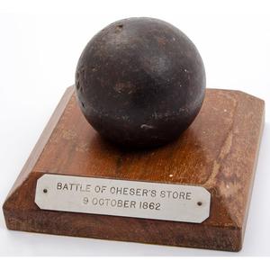 Civil War Canon Ball from the Battle of Dog Walk