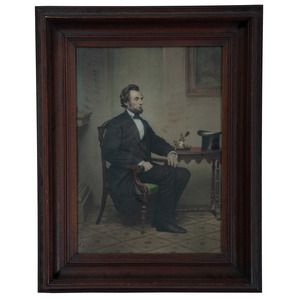 Lot of Two Tinted Lincoln Portraits