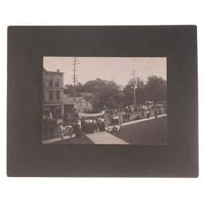 Buffalo Bill Cody Parade in New Britain, Connecticut, Group of Six Photographs
