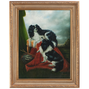Portrait of two King Charles Spaniels, After Richard Ansdell