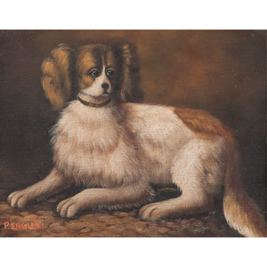 Two Portraits of King Charles Spaniels