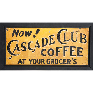 Cascade Club Tin Sign