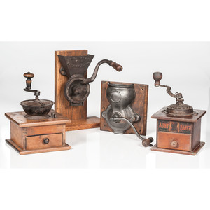 Coffee Mills, Including Charles Parker Co., Aunt Nancy, and Waddell