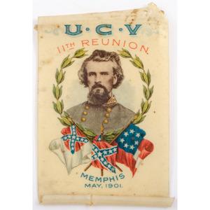 UCV 11th Reunion Nathan Bedford Forrest Badge, Memphis 1901
