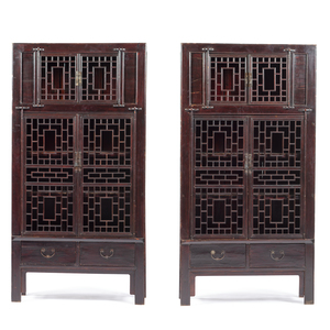 Chinese Black Lacquer Cabinets
