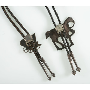 Zuni Channel Inlay Western Themed Bolo Ties