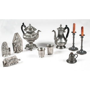 Pewter Teapots and Tablewares, Plus