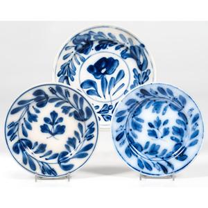 Flow Blue Floral Plates