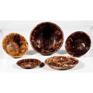 Rockingham Glaze Bowls and Underplates