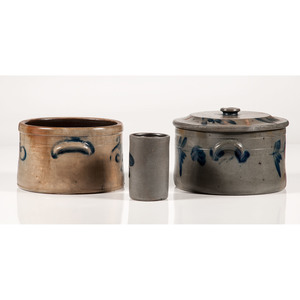 Stoneware Crocks and Jar