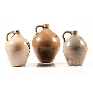 Cobalt-Decorated Stoneware Jugs