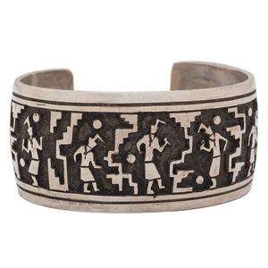 Richard Begay (Dine, d. 2013) Navajo Sterling Silver Cuff Bracelet