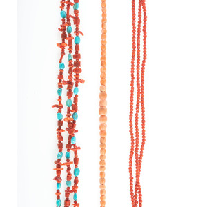 Three Coral Necklaces