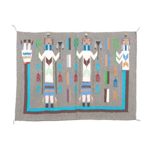 Navajo Yei Sampler Weaving / Rug