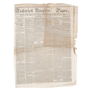 Exceedingly Rare Frederick Douglass' Paper, June 26, 1857 Issue
