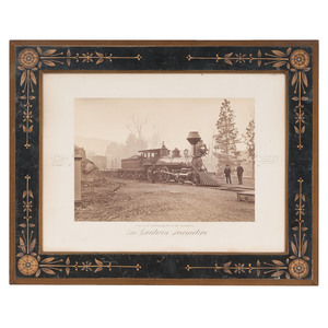Large Format Albumen Photograph of a Baldwin Locomotive for the Oregon Railroad & Navigation Company