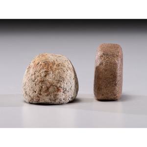 A Quartz Loafstone AND A Granite Loafstone, Longest 2 in.