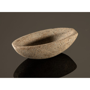 A Granite Imperforated Boatstone, 3-1/4 in.