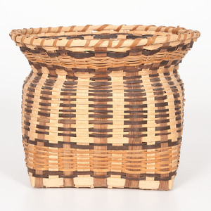 Agnes Welch (Cherokee, b. 1925) White Oak Basket