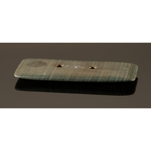 A Banded Slate Rectangular Gorget, 3-1/2 in.