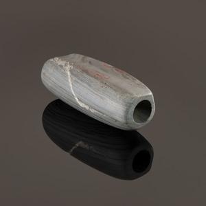 A Slate Tube Bannerstone, 3-1/4 in.