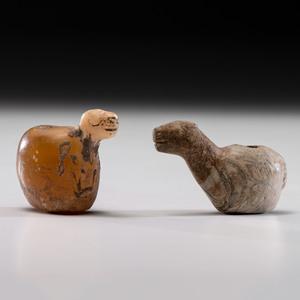 Incan Llama Effigy Conopas, Largest 2-1/2 in.