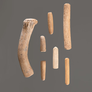 A Set of Flint Knapping Tools, Longest 4-3/4 in.