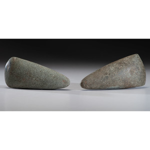 Two Granite Woodland Celts, Longest 7-1/4 in.